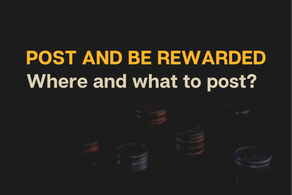 Places on the internet where your posts are rewarded